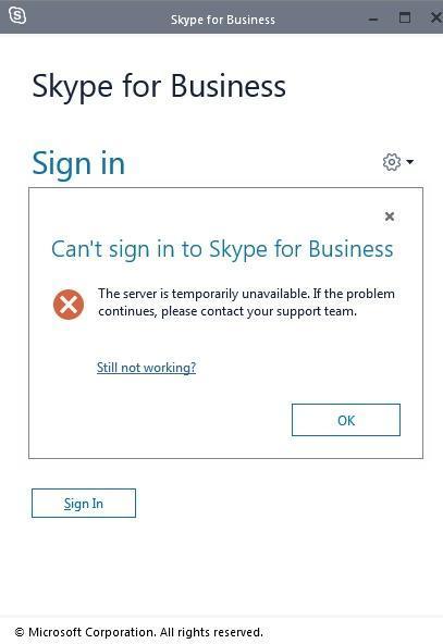 не работает Skype Windows 10