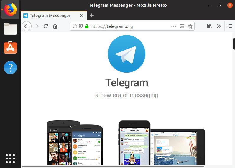 Скачивание установщика Telegram для Linux через официальный сайт