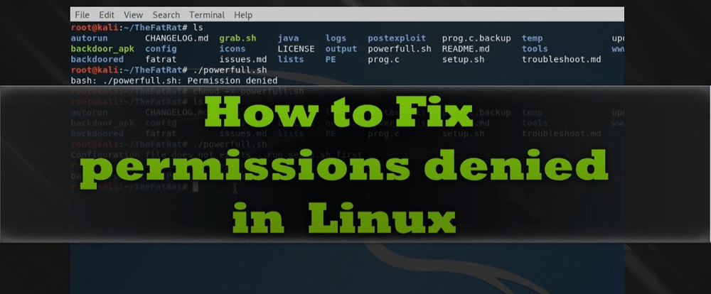 Ошибка «Permission denied» в LinuxОшибка «Permission denied» в Linux