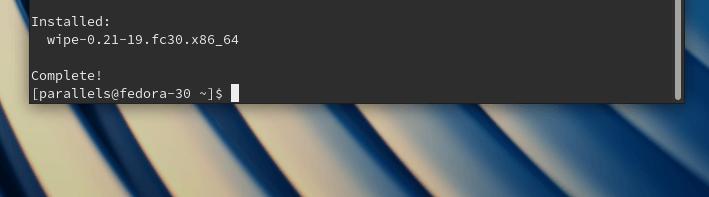 Установка утилиты wipe в операционную систему Fedora