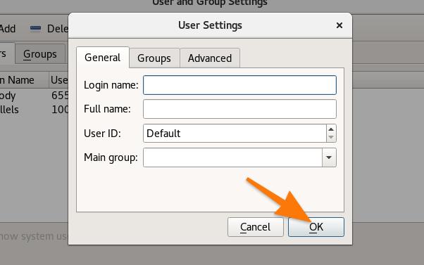 Создание нового пользователя в утилите LXQT-user
