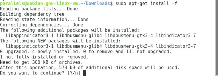 Команда sudo apt-get install -f