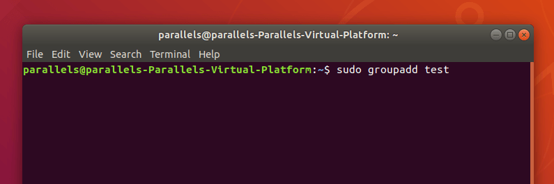 Команда для создания новой группы в Ubuntu