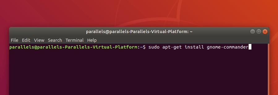 Команда установки gnome commander в Ubuntu