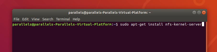 Команда загрузки NFS-сервера в Ubuntu