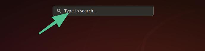 Поисковое поле в меню Activities