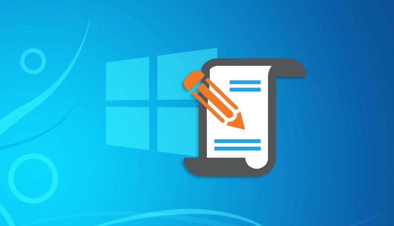 Создание bat файла в Windows 10