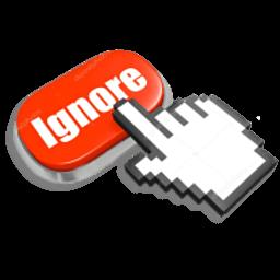 Иконка кнопка Ignore