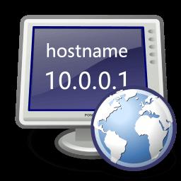 Иконка DNS, монитор, интернет