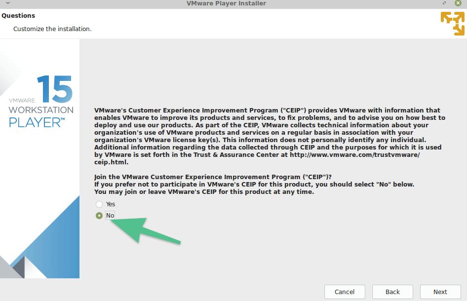 Приглашения поучаствовать в программе улучшения VMware