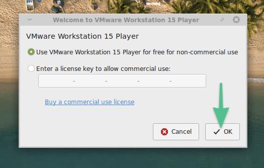 Окно введения лицензионного ключа в VMware Workstation