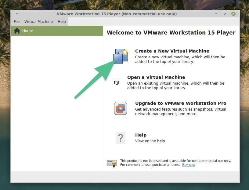 Главное окно VMware Workstation