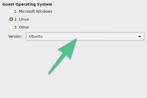 Окно выбора версии системы для установки в VMware