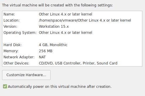 Более подробная информация о виртуальной системе
