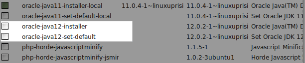 Список пакетов в Synaptic