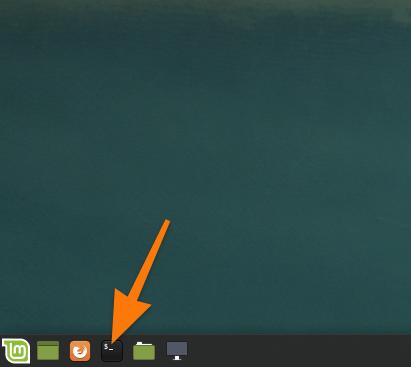 Панель инструментов в Linux Mint