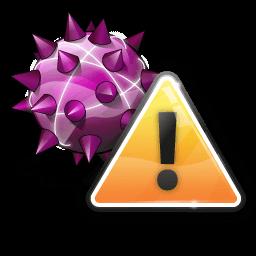 Иконка вирус, предупреждение