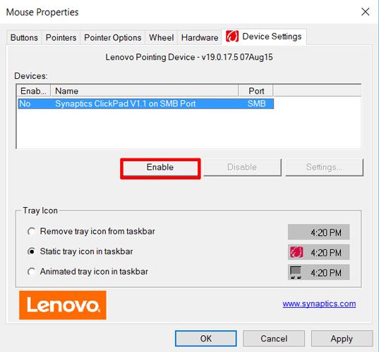Настройки мыши в «Панели управления» Windows