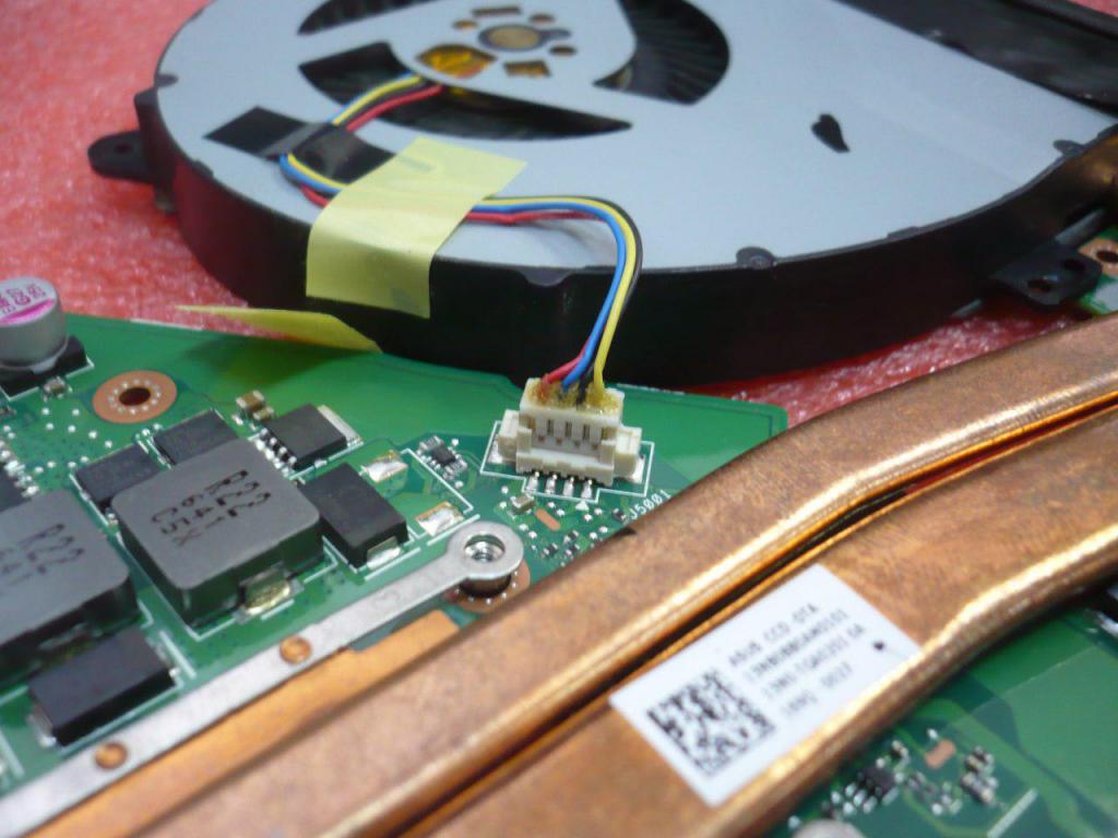 Система охлаждения ноутбука Asus K550V