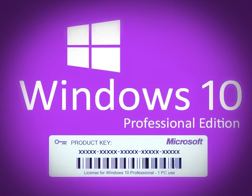 Windows 10 Professional Edition, Product Key