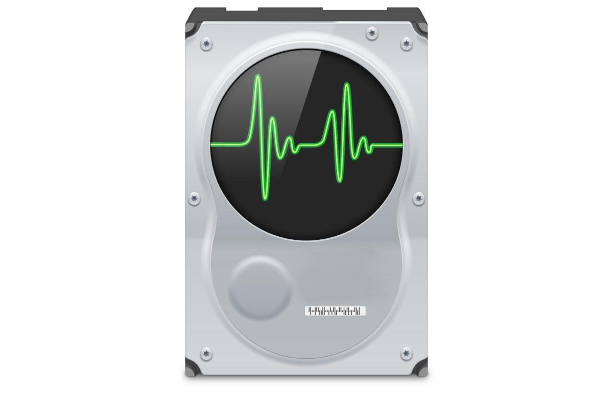 Изображение жёсткого диска с кардиограммой внутри