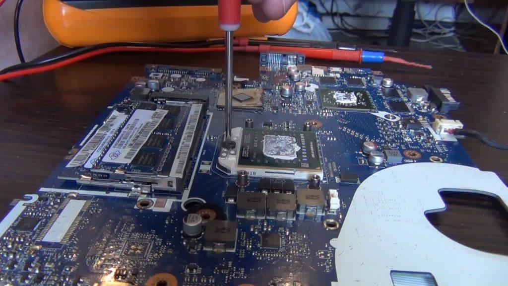 Acer Aspire V3-551g снятие ЦП