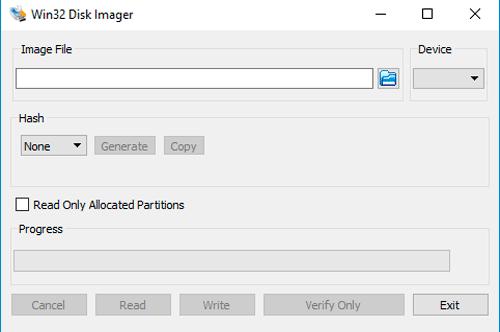 Установка Kali на флешку с помощью Win32 Disk Imager