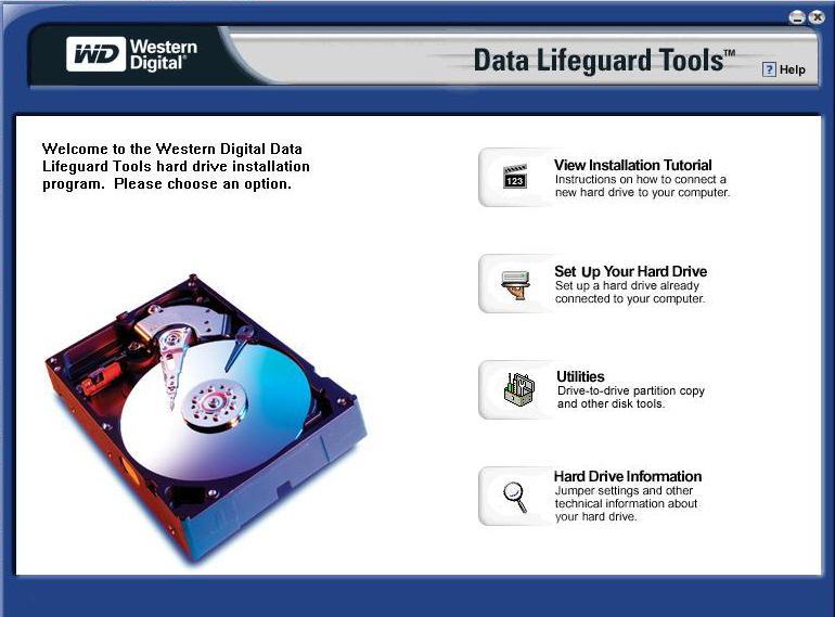 Описание возможностей Western Digital Data LifeGuard Diagnostic
