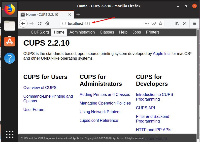 Специальная утилита для настройки работы принтеров в ОС Linux