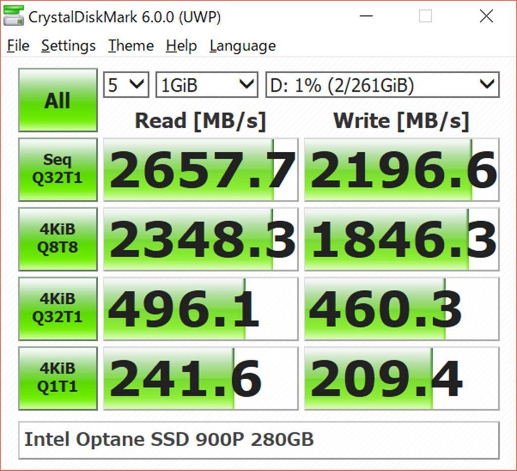 Измерение скорости SSD