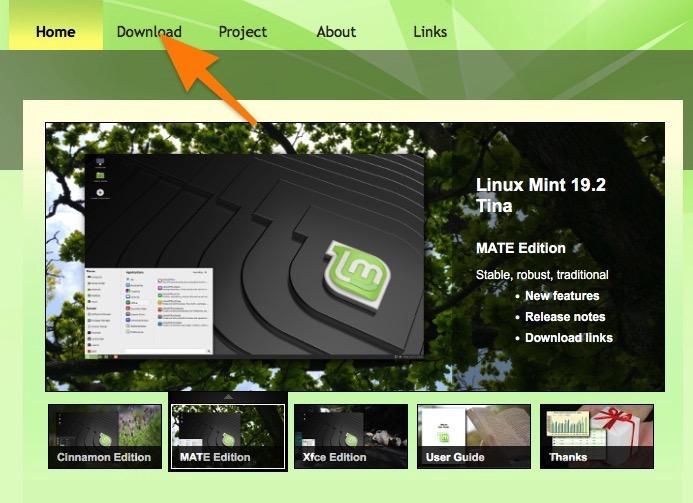 Официальный сайт Linux Mint