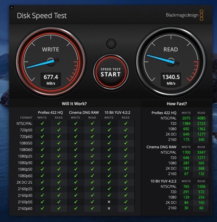 Интерфейс Speed Test во время тестирования
