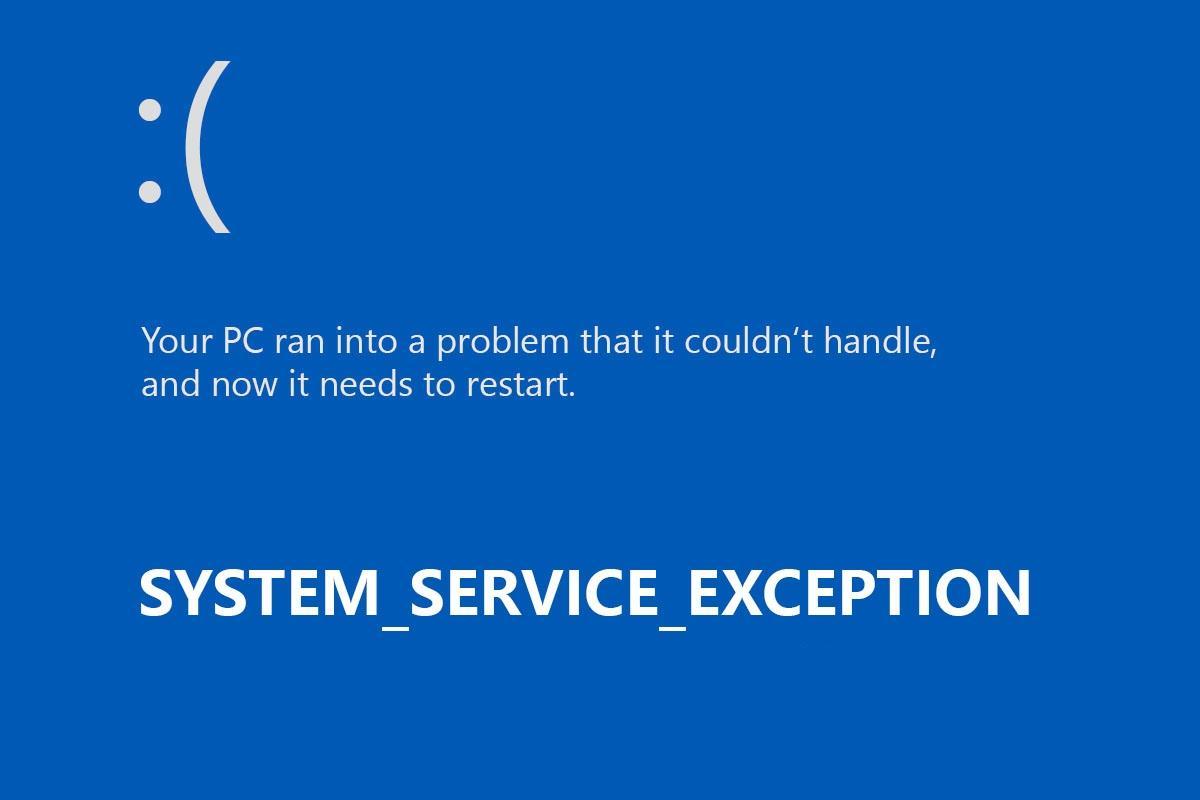 Исправляем ошибку SYSTEM_SERVICE_EXCEPTION в Windows 10