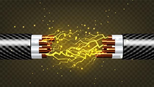 Запаять перелом провода