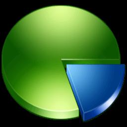 Иконка диаграмма круговая, пирог