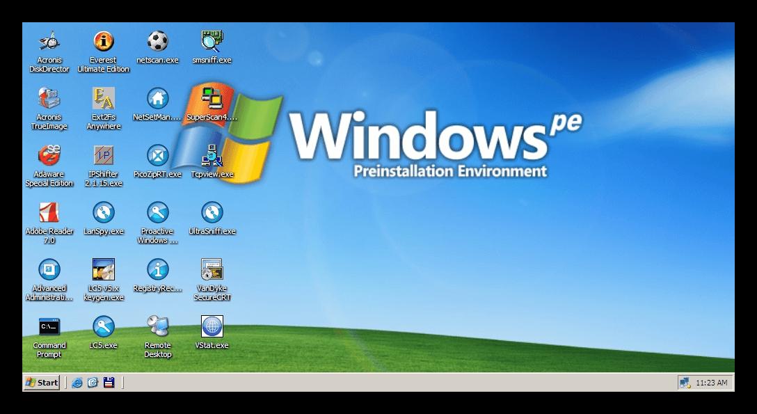 Windows PE Рабочий стол