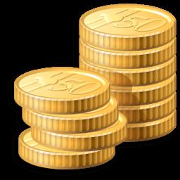 Иконка монеты, деньги, золото