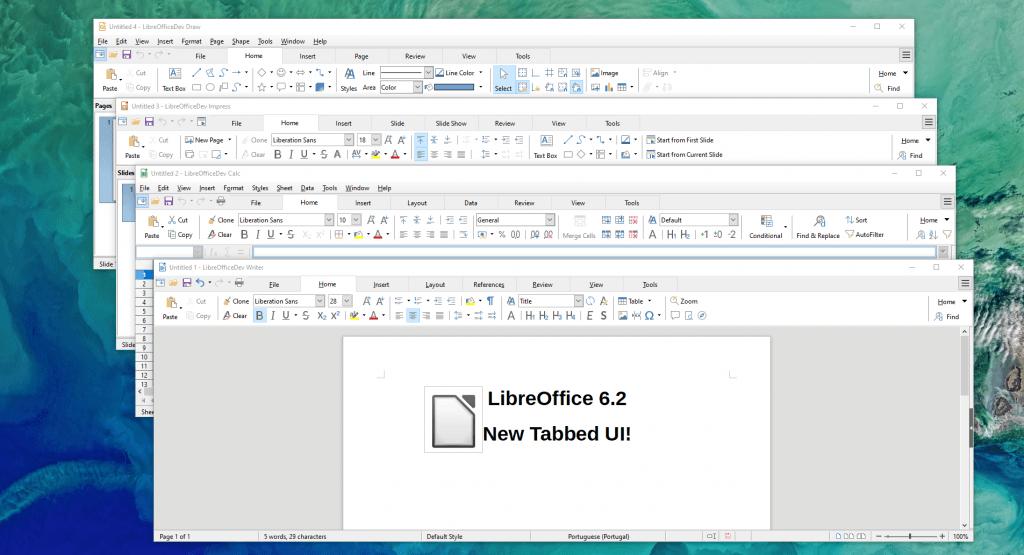 Интерфейс программы LibreOffice