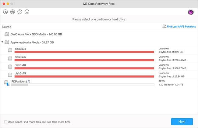 Интерфейс M3 Data Recovery