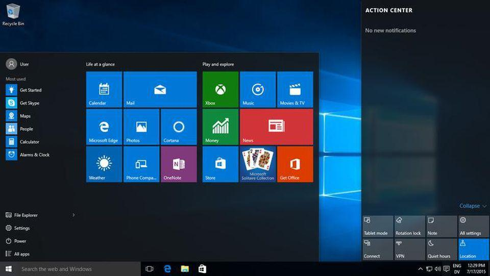 Windows 10 Home (домашняя)