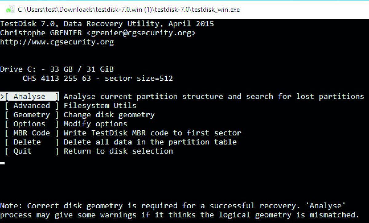 Программа восстановления файлов TestDisk