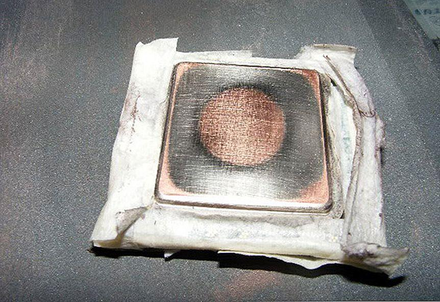 Шлифовка радиатора пк