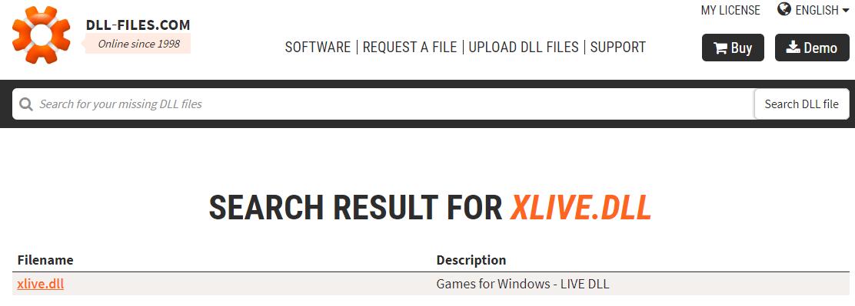 Поиск компонента xlive.dll