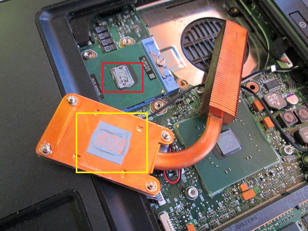 Очистка процессора ноутбука от старой термопасты