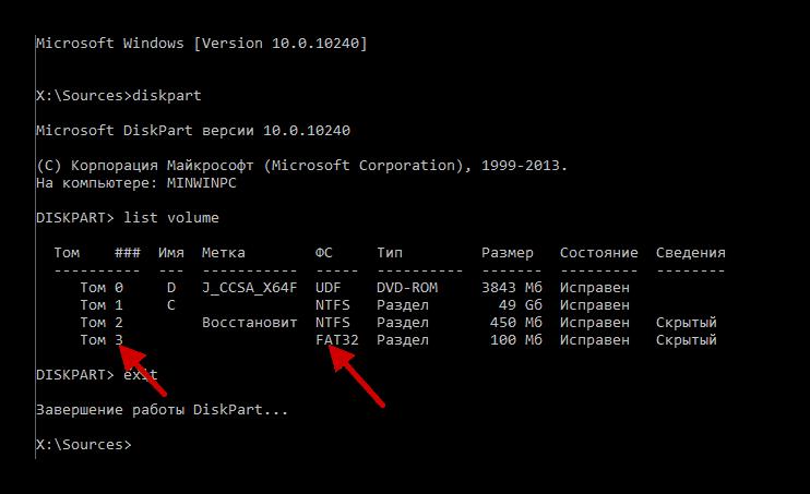 Изменение буквы загрузочного сектора через командную строку
