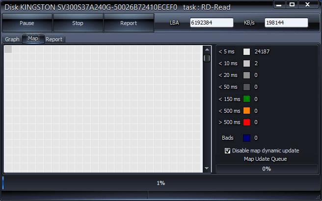Состояние секторов в HDDScan