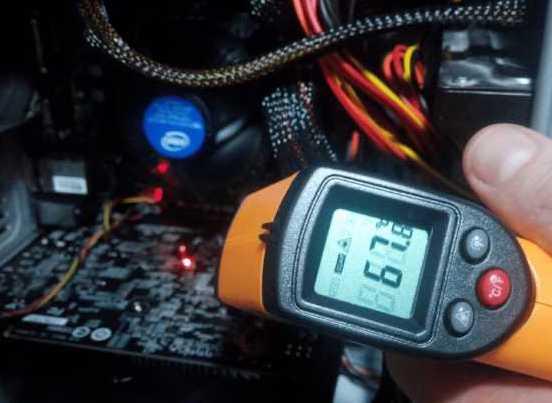 Дистанционный градусник для измерения температуры электроники