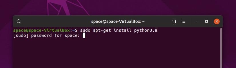 Запрос на ввода пароля в терминале Ubuntu