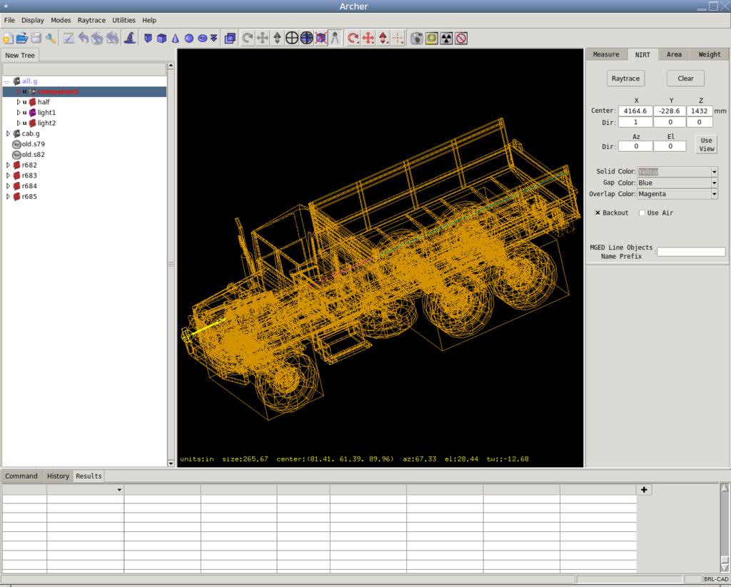 Интерфейс программы BRL-CAD