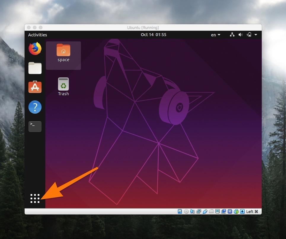 Рабочий стол операционной системы Ubuntu